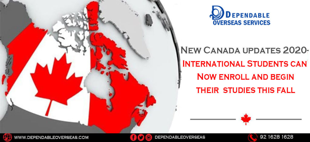 New Canada updates 2020- International Students can enroll and begin their studies this fall