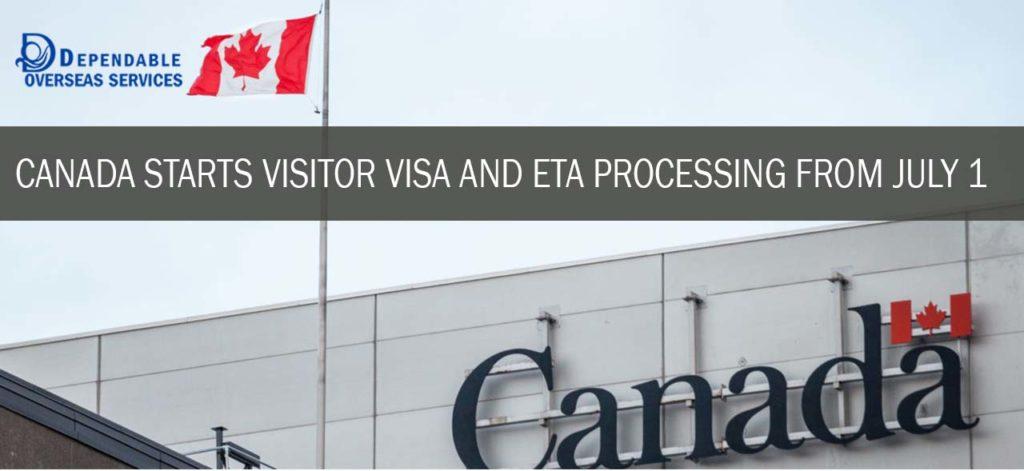 Canada Starts Visitor Visa & eTA Processing From July 1