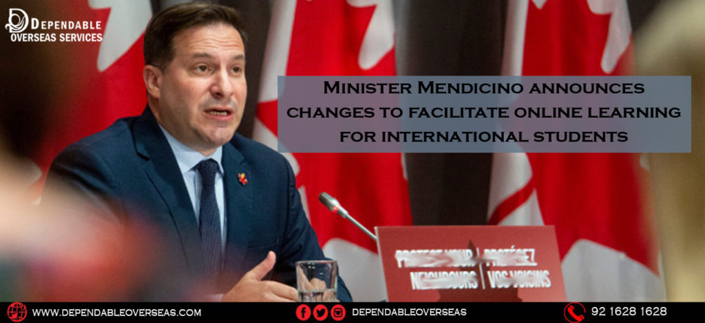 Minister Mendicino announces changes to facilitate online learning for international students